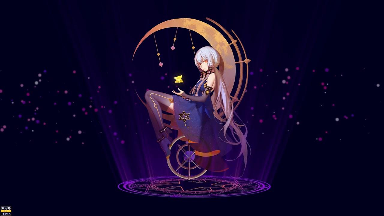 Stardust Anime Girl Moon Live Wallpaper - YouTube