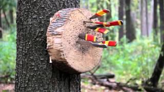 Безоборотное метание ножей. ролик 3 .Ученик Юрия Федина Вязовец Борис .