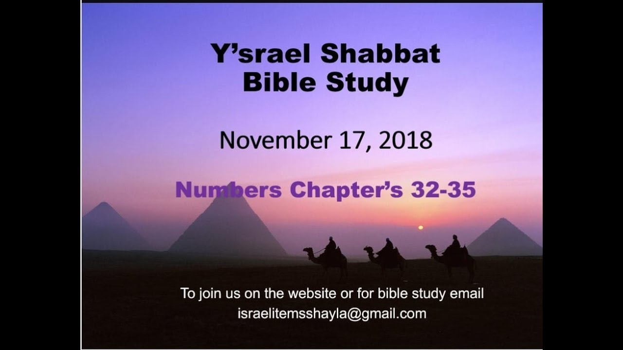 17Nov Ysrael bible study Numbers 32-35