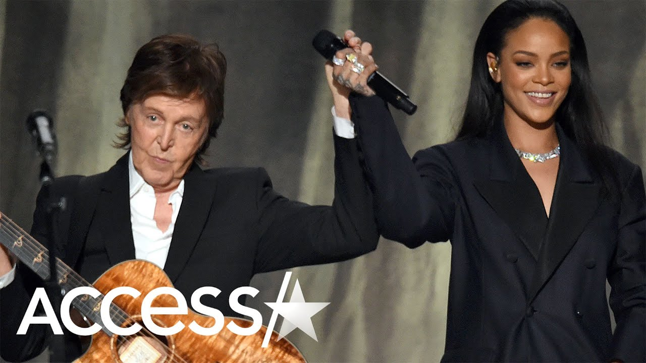 Rihanna Can't Stop Giggling When Running Into Paul McCartney On Flight