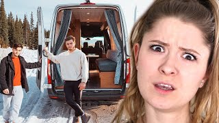 Traveling Cross Country Living In Our Tiny Home Van   Dolan Twins Reaction