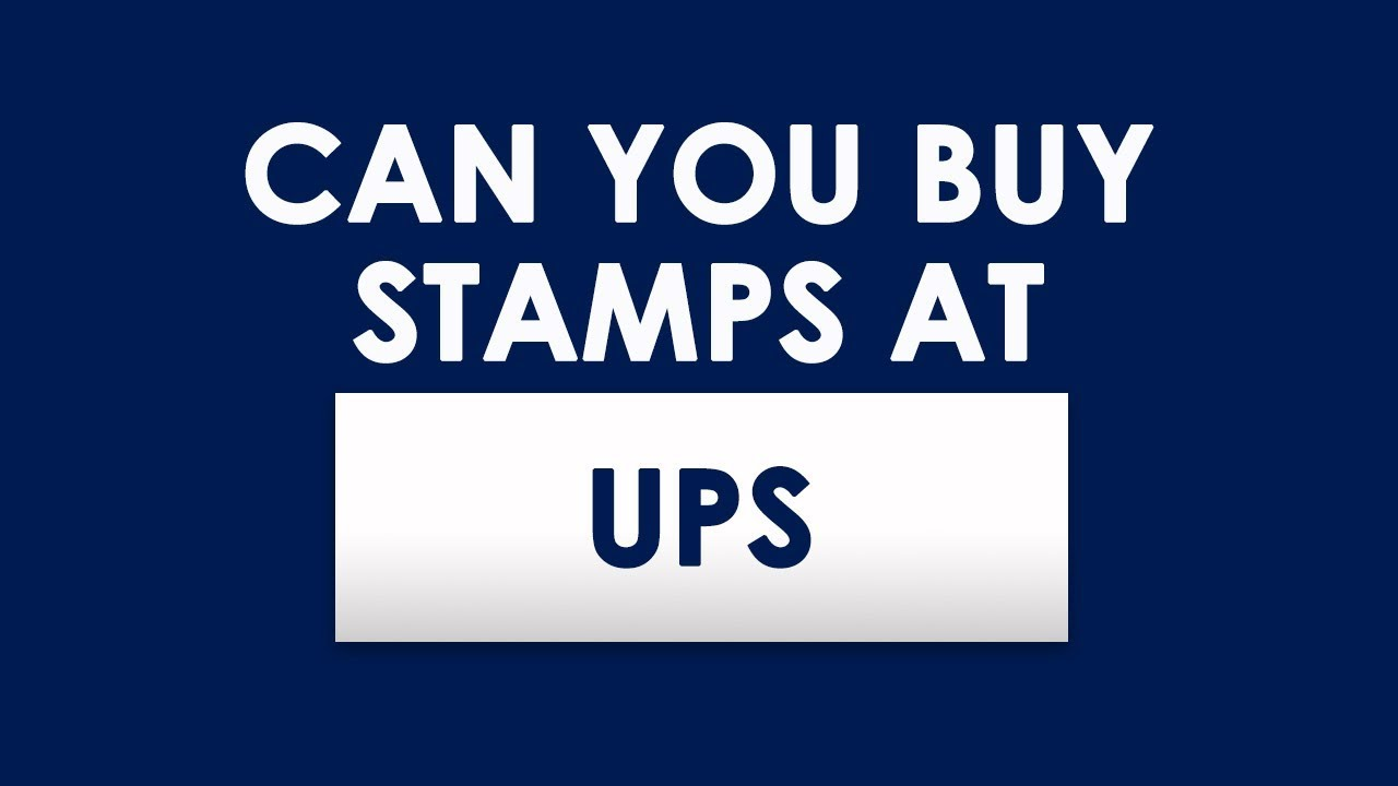 Does Ups Sell Stamps Youtube