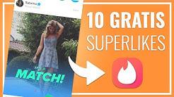 10 Tinder Superlikes kostenlos erhalten - pro Tag!