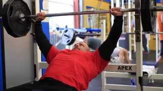 Jason Gallant works out with Powerlifting Champion Vince Martin