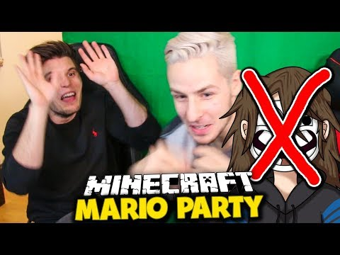 Minecraft Mario Party im UFO