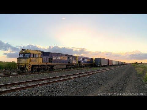 1PM6 crosses MA5 At Gheringhap - PoathTV Australian Trains & Railways