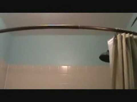 Installing A Curved Shower Curtain Rod Youtube
