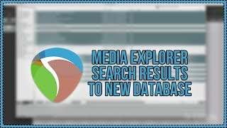 Media Explorer Search Results to New Database - REAPER 5 Tutorial