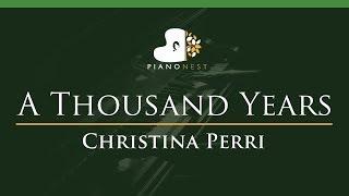 Gambar cover Christina Perri - A Thousand Years - LOWER Key (Piano Karaoke / Sing Along)