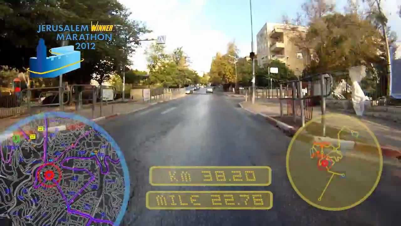 Jerusalem Marathon 2012  course map  YouTube
