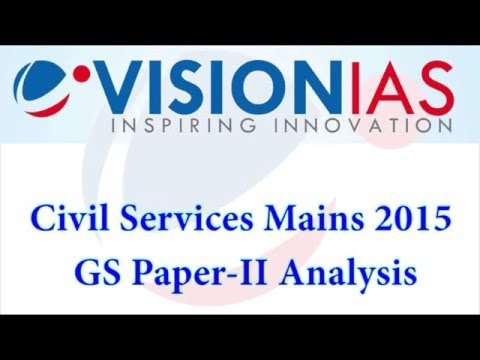 Civil Services Mains 2015 GS Paper- II Analysis