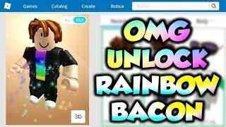 OMG! Unlock Rainbow Bacon Noob In ROBLOX!