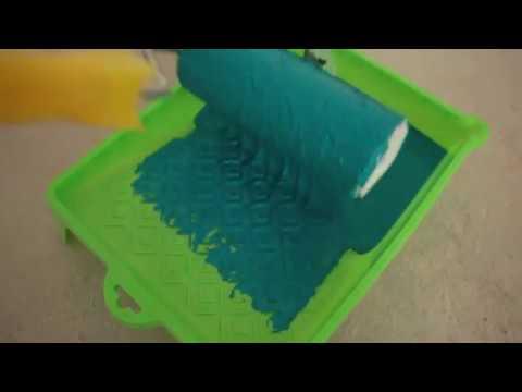 Декоративное покрытие бирюзового цвета.