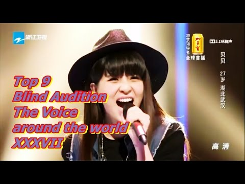 Top 9 Blind Audition (The Voice around the world XXXVII)