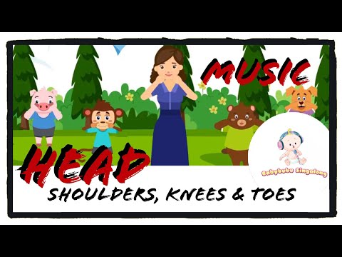 Head Shoulders Knees and Toes (Music Only) - Classic Nursery Rhymes For Children 2018
