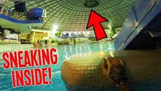 SPENDING THE NIGHT IN A WATERPARK! (ESCAPED THE POLICE) thumbnail