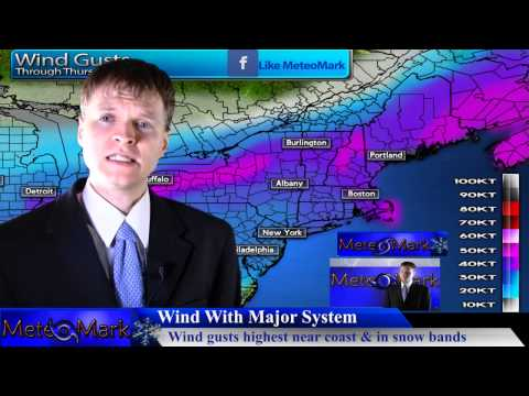 Blizzard For Inland Northeast & Northern New England : Mar 12, 2014