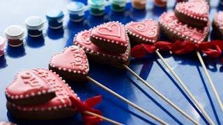 Пряники имбирные Валентинки рецепт в домашних условиях