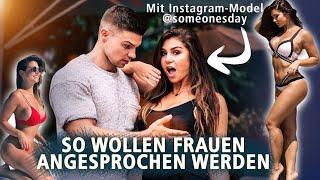 DAS WOLLEN SIE HÖREN ! 😏Wie man Frauen richtig anspricht ft. Instagram Model 👸    SMARTGAINS