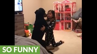 Watch these two best friends share a precious moment!
