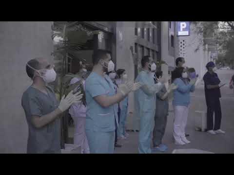 Homenaje a los sanitarios en la Clínica Virgen del Rosario