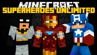 Minecraft: SUPERHERO MOD (Green Arrow, Iron Man, Cyborg Superhero's) Mod Showcase