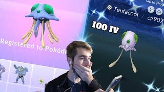 I FOUND A SHUNDO TENTACOOL IN POKEMON GO! Shiny Tentacool Evolution!