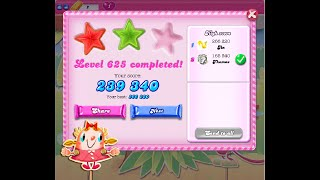 Candy Crush Saga Level 625   ★★   NO BOOSTER