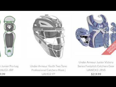 Under Armour Youth Catchers Gear 9 12 Baseball Bargains Youtube