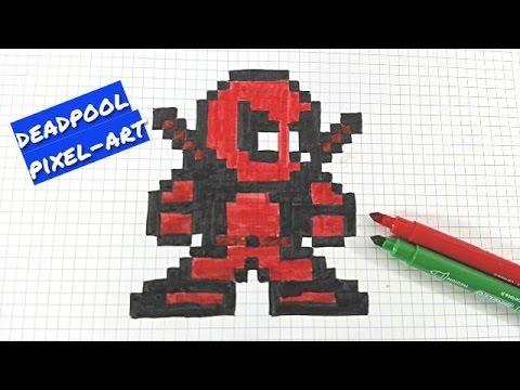 Deadpool Pixel Art How T Draw