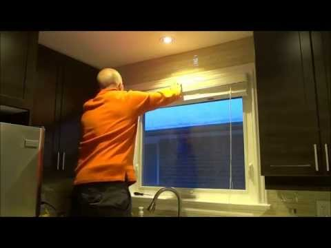 How To Install Blinds On A Window-Faux Wood Blinds