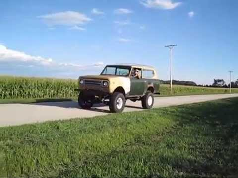 6.5 diesel Scout drive by in the country. For Sale!