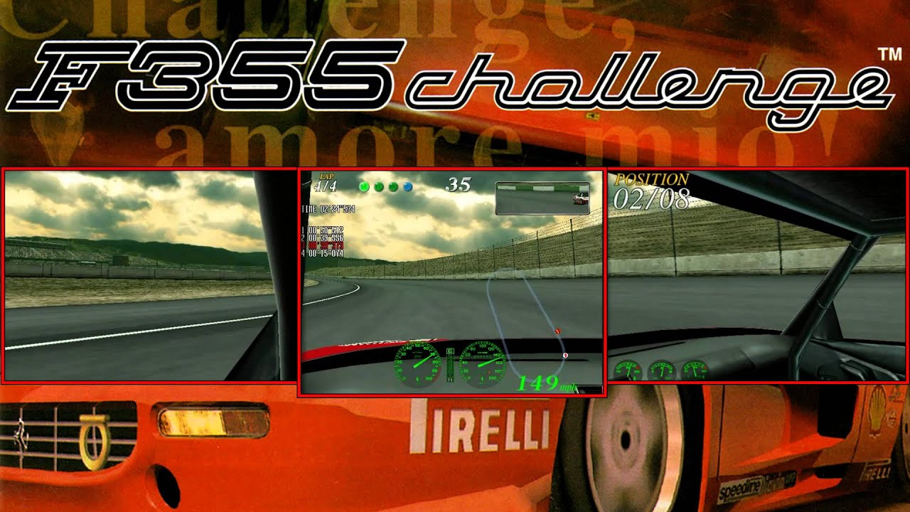 Repeat F355 Challenge - Sega NAOMI (3 screen version