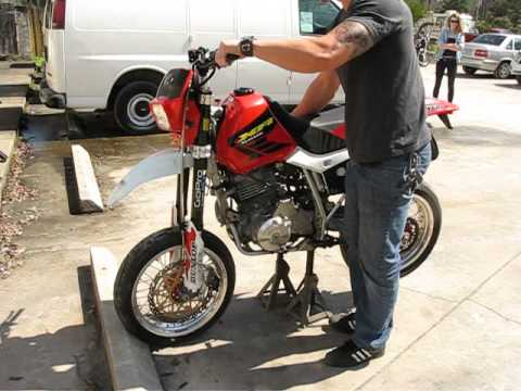 1159 02 Honda XR650L (red) Fallen Cycles Test Ride - YouTube