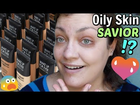 *MIRACLE FOUNDATION* For Oily Skin!? | Let's Test!: MUFE Matte Velvet Skin Full Coverage Foundation