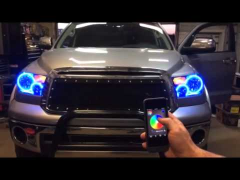 Panasonic Phone Number >> Oracle Halo Headlights and Oracle Smart Phone App by Autosport Plus - YouTube