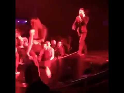 Miley Cyrus Kisses Girl and Likes it at Britney Spears Concert