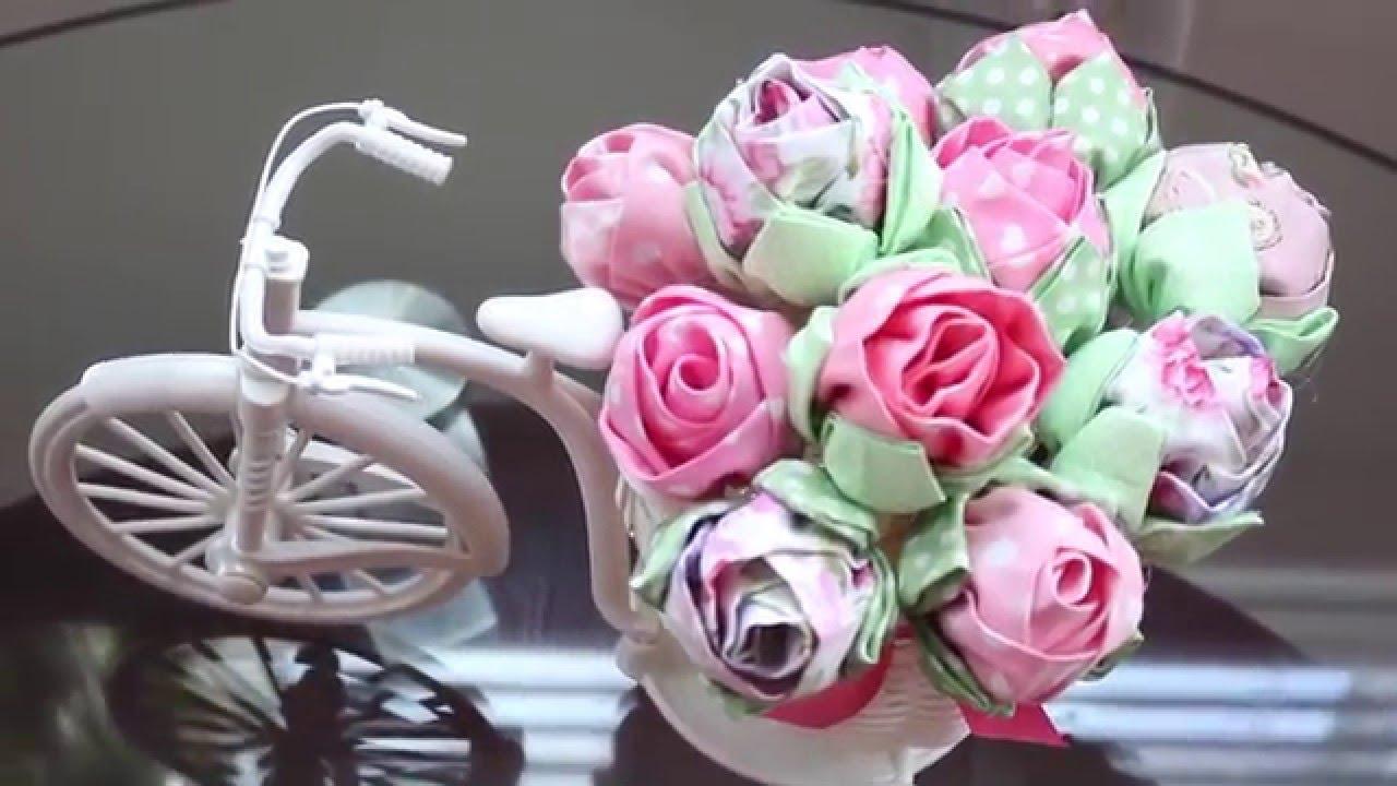 04dcf817e Como fazer Flor de Tecido - YouTube