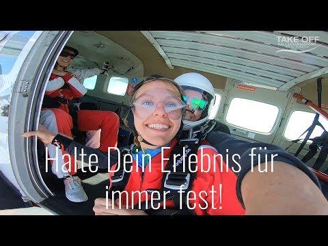 TAKE OFF   Tandempilot Aufnahmen Mit Der Handkamera Tandemsprung Fallschirmsprung Bei Berlin