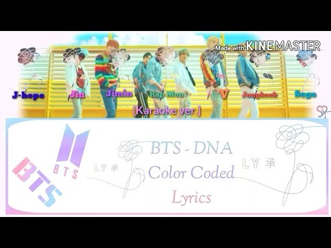 BTS (방탄소년단) - DNA [Karaoke ver.] Color Coded Lyrics (Instrumental not clear/Kpop)