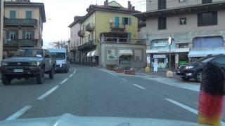 Stresa Baveno Feriolo Lago Maggiore SS 33 Italien Italia 2.4.2015