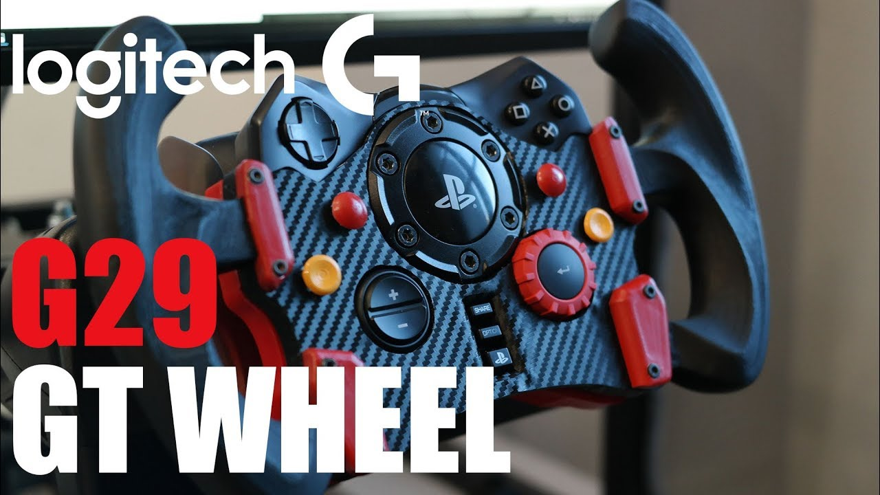 3bce7179e12 GT Steering Wheel for Logitech G29 + Magnetic Paddle Shifter |  RaceDepartment - Latest Formula 1, Motorsport, and Sim Racing News