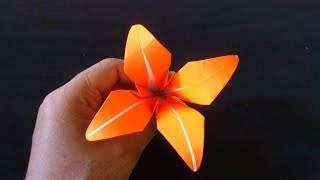 Cara Membuat Origami Bunga Lily | Origami Bunga dan Tanaman