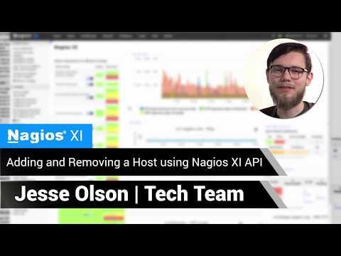 Nagios: Adding and Removing a Host using Nagios XI API