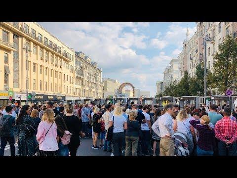 Опрос на дне города Москвы.Вы ходили на выборы? / LIVE 08.09.19