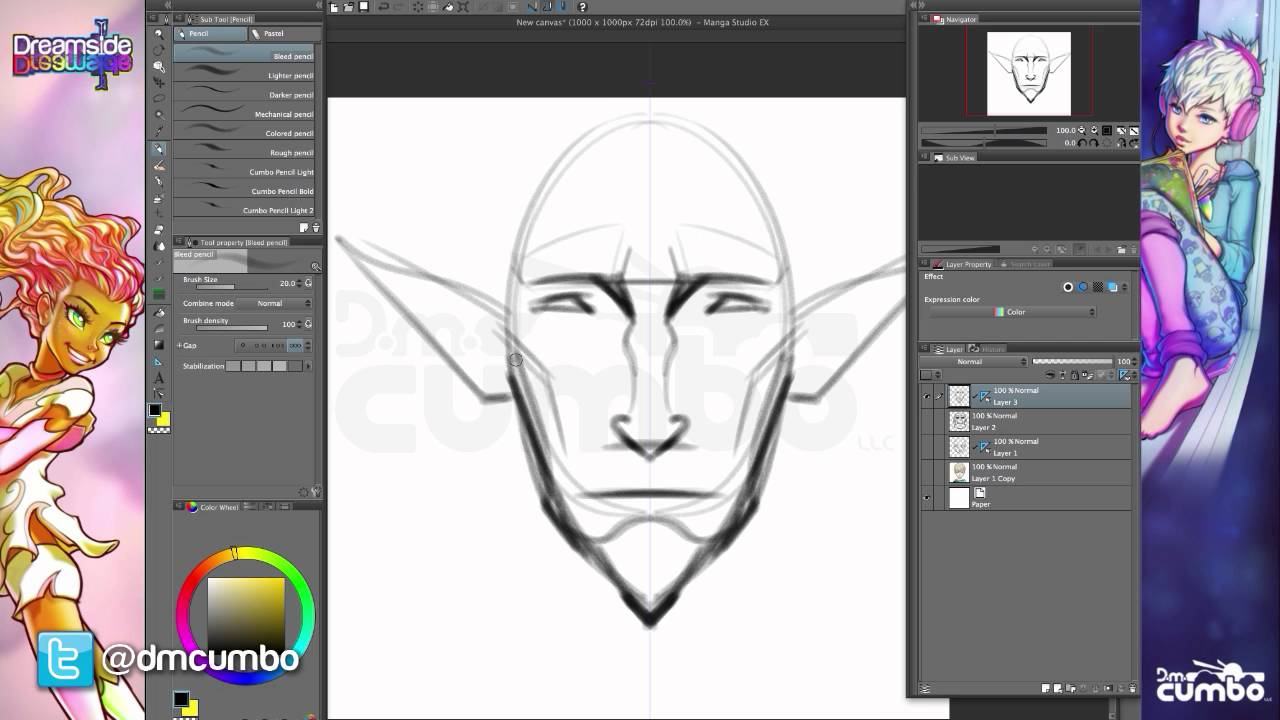 Creating Original Character Designs With The Symmetry Tool Youtube