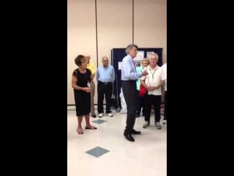 Larry Sprinkle Visits Tyvola Senior Center Youtube