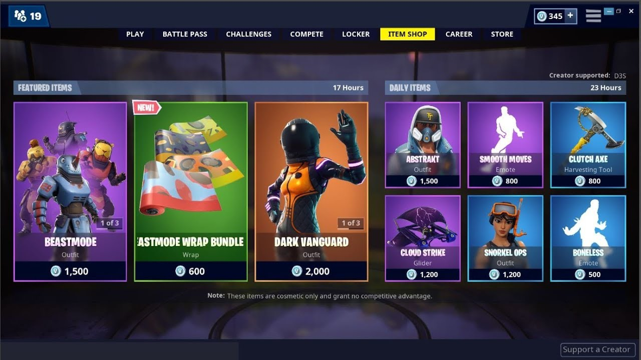 Fortnite Item Shop What Skins Are In The Item Shop For August 25