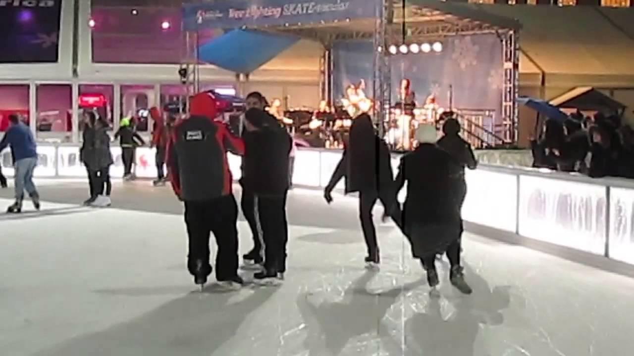 this christmas tree lighting skate tacular bryant park 2015