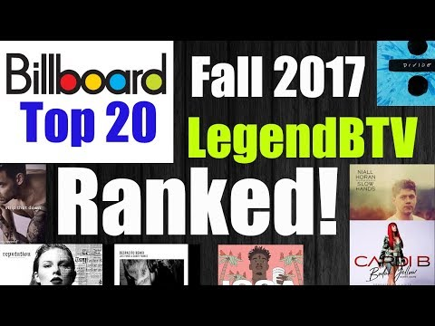 Billboard Hot 100 Top 20 Ranked Fall 2017